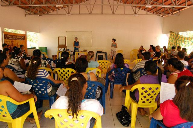 Oficina teve participação de escolas e entidades (Crédito: Gustavo Ohara)